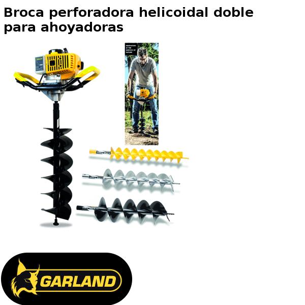 Broca perforadora helicoidal doble Garland para ahoyadoras
