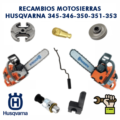 Recambios motosierras husqvarna 345-346-350-351-353