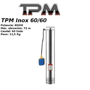 Bomba para pozo TPM Inox 60/60