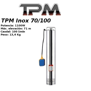Bomba para pozo TPM Inox 70/100