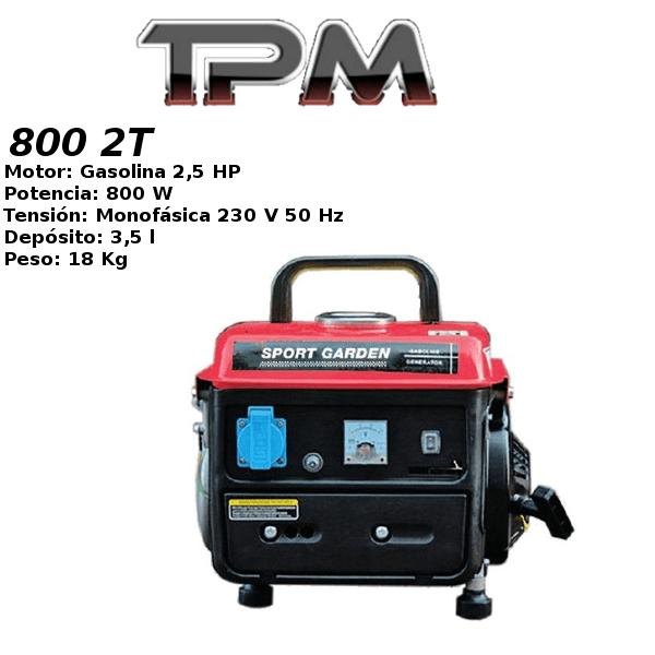 Generador eléctrico TPM 800 2T