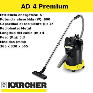 Aspirador Karcher AD 4 Premium