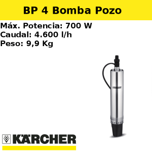Bomba pozo Karcher BP 4