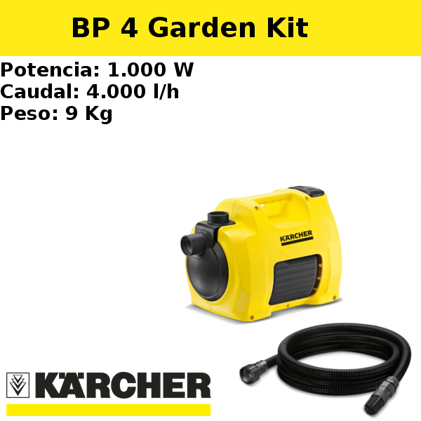 Bomba pozo Karcher 4 Garden Kit