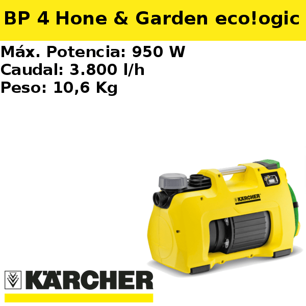 Bomba pozo Karcher BP 4 Home & Garden eco!ogic