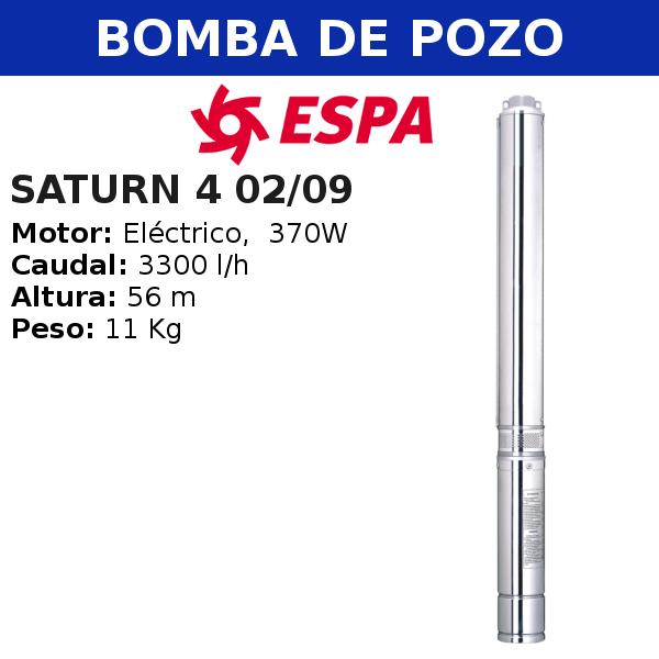 Bomba de pozo Espa Saturn 4 02-09