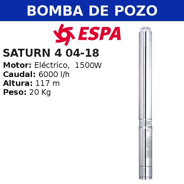 Bomba de pozo Espa Saturn 4 04-18