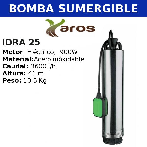 Bombas para Pozo Yaros, Idra 25