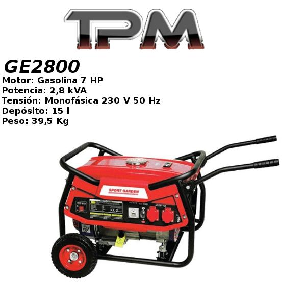 Generador eléctrico TPM GE2800