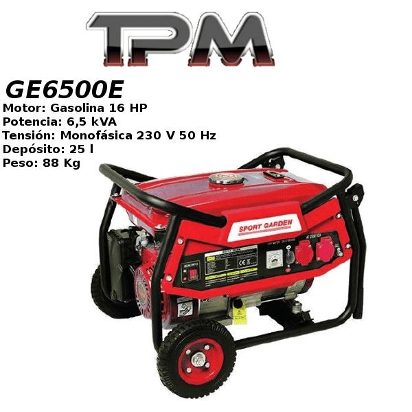 Generador eléctrico TPM GE6500E