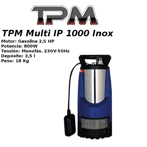 Bombas de agua TPM Multi IP 1000 Inox