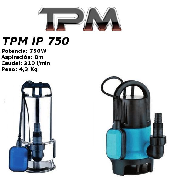 Bombas de agua TPM IP 750