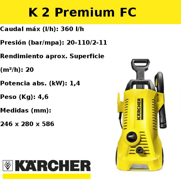 Hidrolimpiadora Karcher K 2 Premium FC