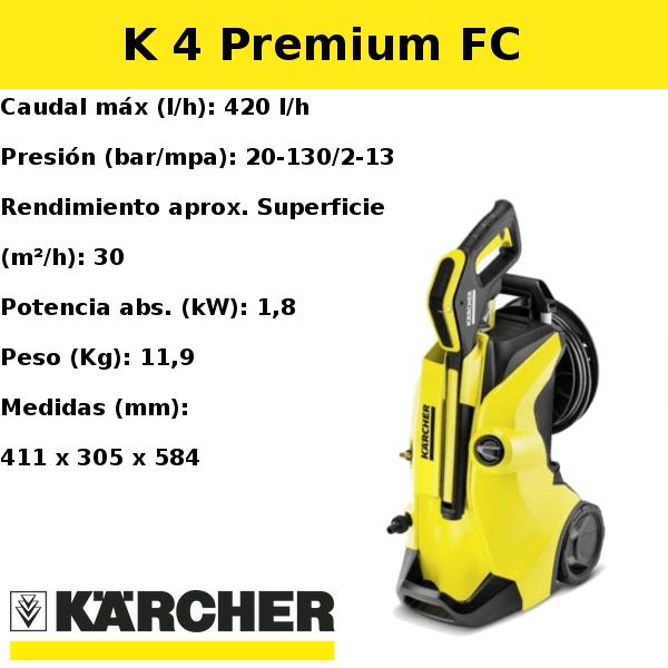 Hidrolimpiadora Karcher K 4 Premium FC