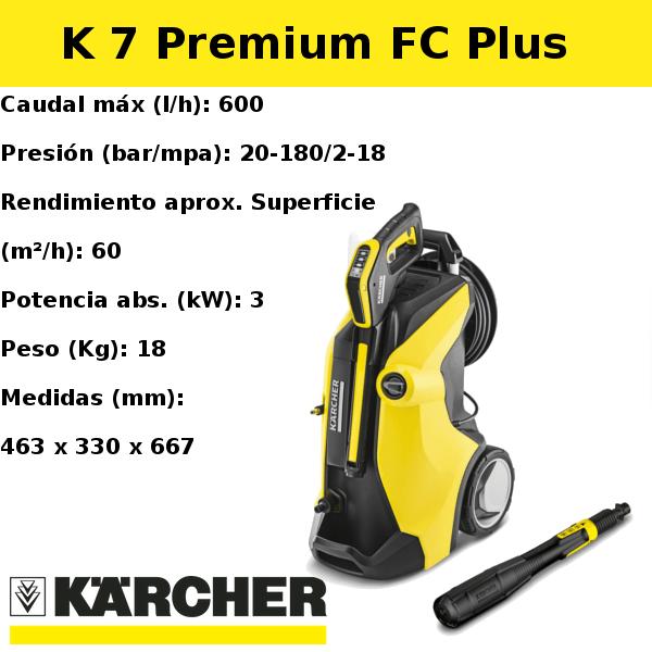 Hidrolimpiadora Karcher K 7 Premium FC Plus