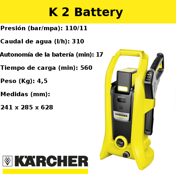 Hidrolimpiadora Karcher K 2 Battery