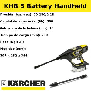 Hidrolimpiadora Karcher KHB 5 Battery Handheld