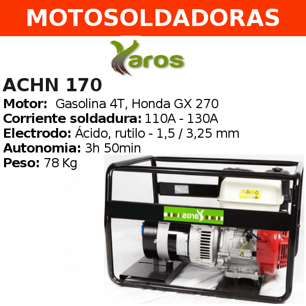 Motosoldadora Yaros ACHN 170