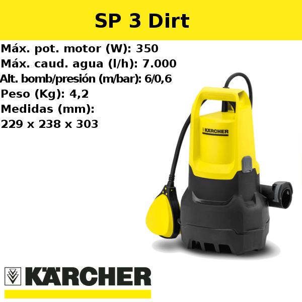 Bomba de agua Karcher SP 3 Dirt