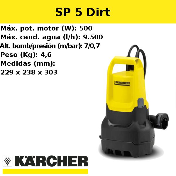 Bomba de agua Karcher SP 5 Dirt