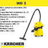 Aspirador Karcher WD 3