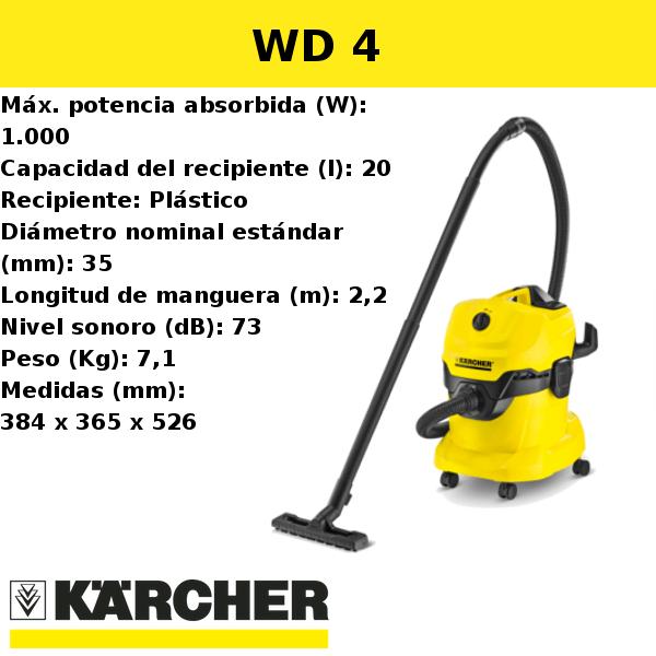 Aspirador Karcher WD 4