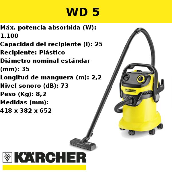 Aspirador Karcher WD 5