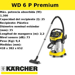 Aspirador Karcher WD 6 P Premium