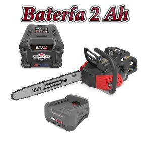 Motosierra batería snapper sxdcs82k + cargador + bateria 2Ah