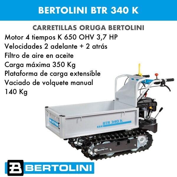 Carretilla oruga Bertolini BTR340 motor Emak