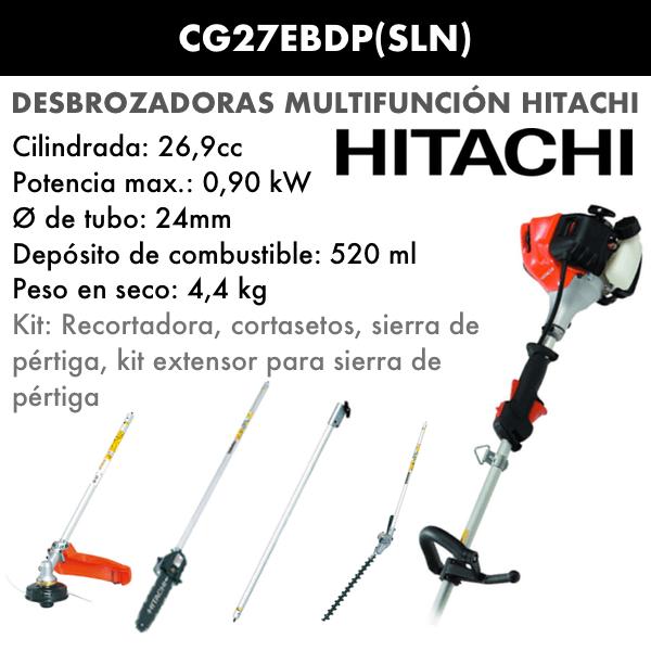 Desbrozadora multifunción Hitachi CG27EBDP SLN