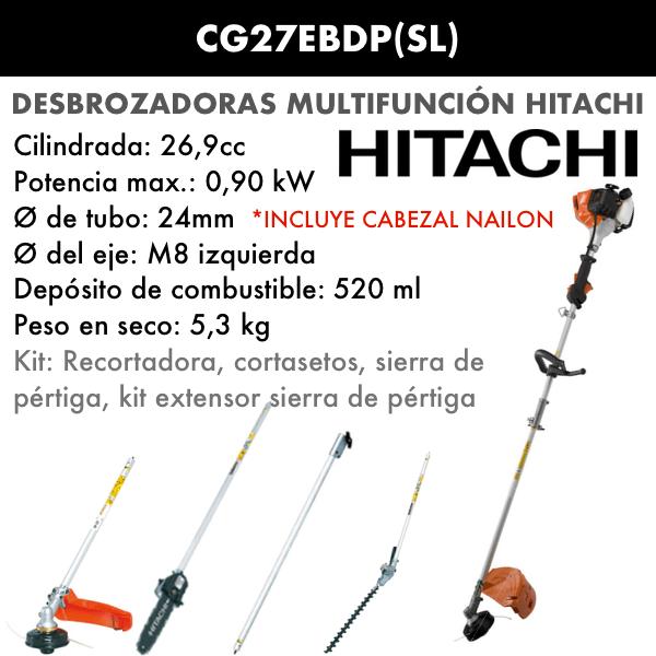 Desbrozadora multifunción Hitachi CG27EBDP(SL)