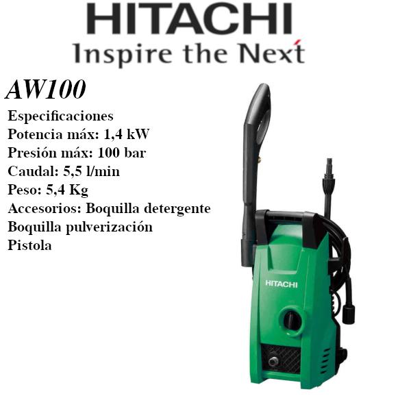 Hidrolimpiadora eléctrica Hitachi AW100