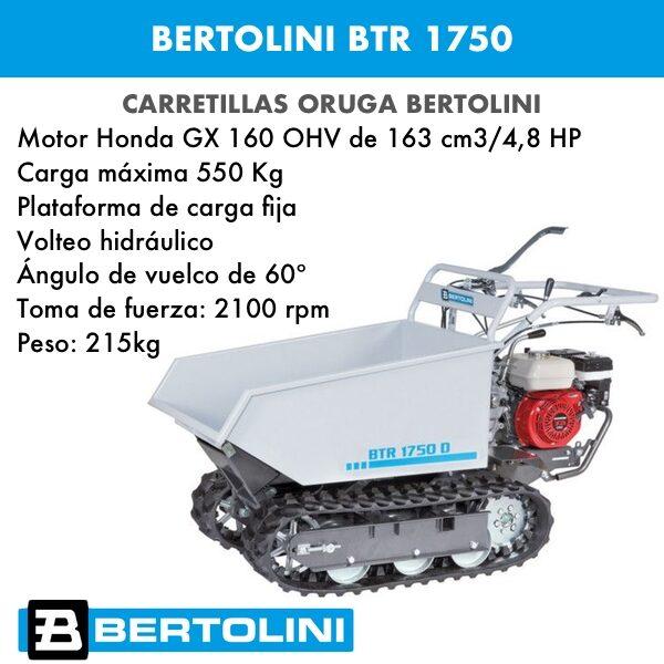 Transporter Bertolini BTR 1750 Dumper (carretilla oruga)