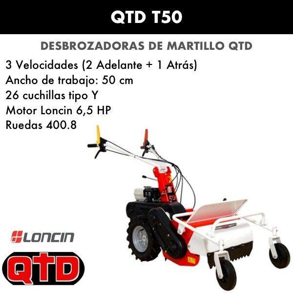 Desbrozadora de martillo QTD T50