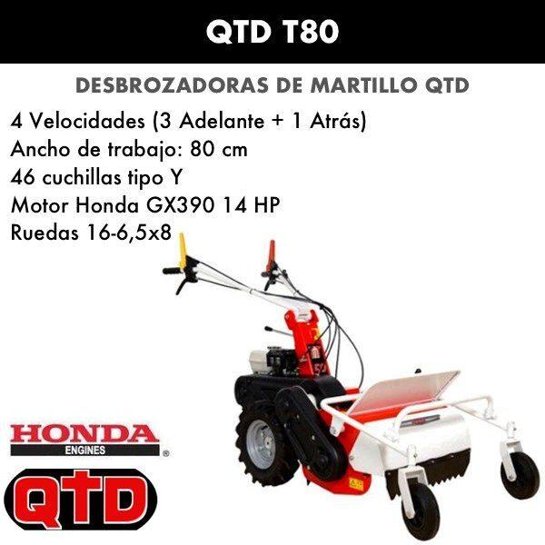 Desbrozadora de martillo QTD T80