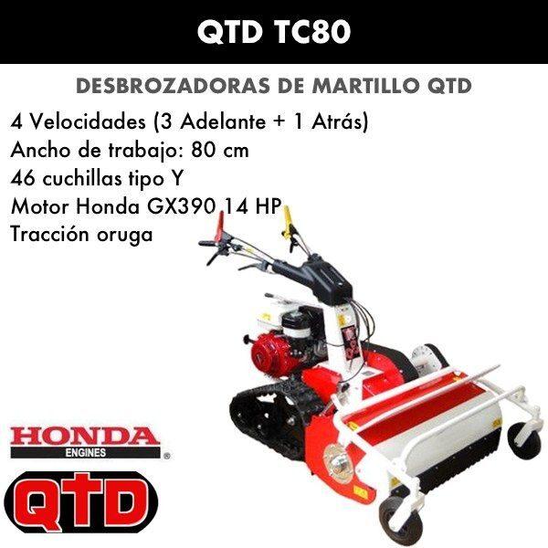 Desbrozadora de martillo QTD TC80
