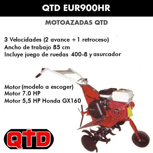 Motoazadas QTD EUR900HR