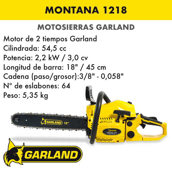 Motosierra Garland Montana 1218