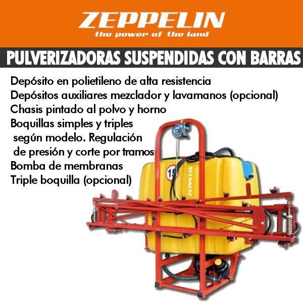 Pulverizadoas suspendidas con barras zeppelin