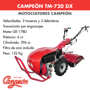 Motocultor Campeon TM-720 DX 6cv
