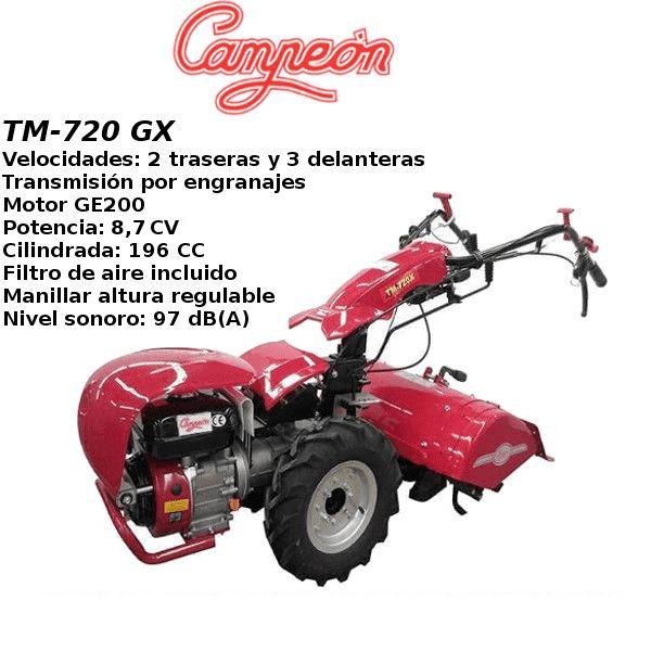 Motocultor Campeón TM-720 GX 8,7 CV