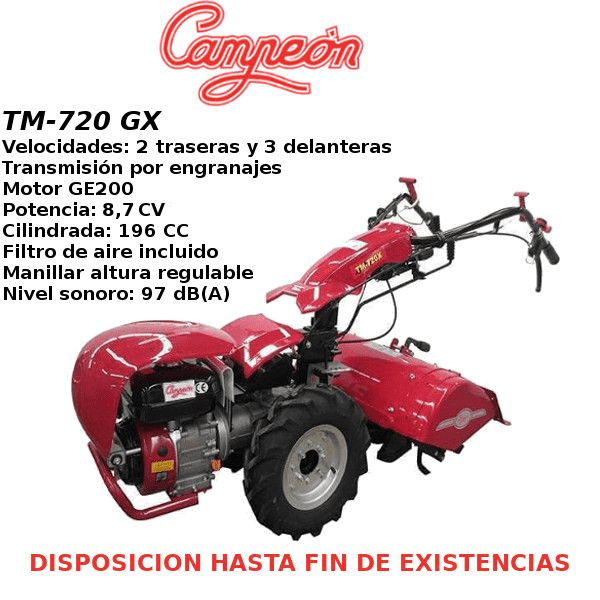 Motocultor Campeon TM-720 GX 8,7 HP