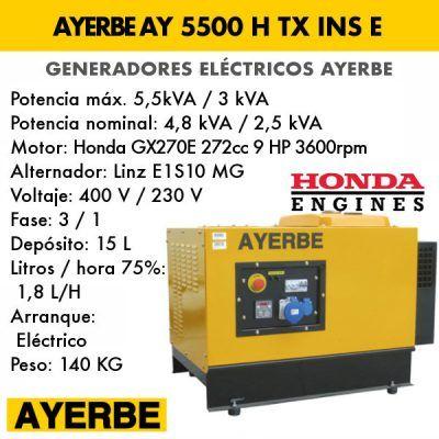 Generador insonorizado Ayerbe AY 5500 H TX INS E