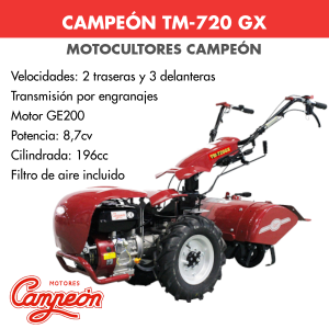 Motocultor Campeon TM-720 GX 8,7cv