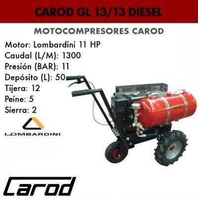 Motocompresor Carod GL 13/13 diesel