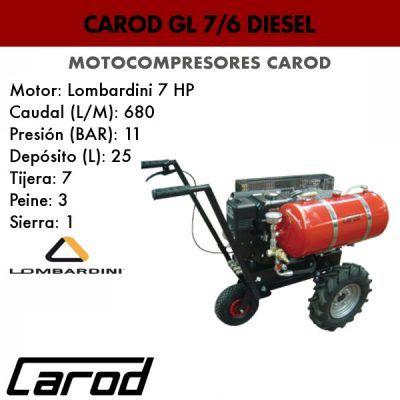 Motocompresor Carod GL 7/6 diesel