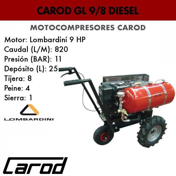 Motocompresor Carod GL 9/8 diesel