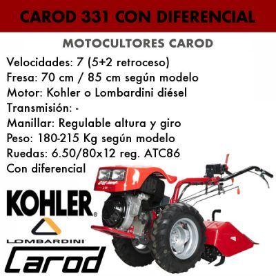 Motocultor Carod 331