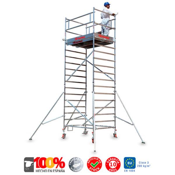 Andamios de aluminio Faraone TOP SYSTEM D 135x180cm 480KG max